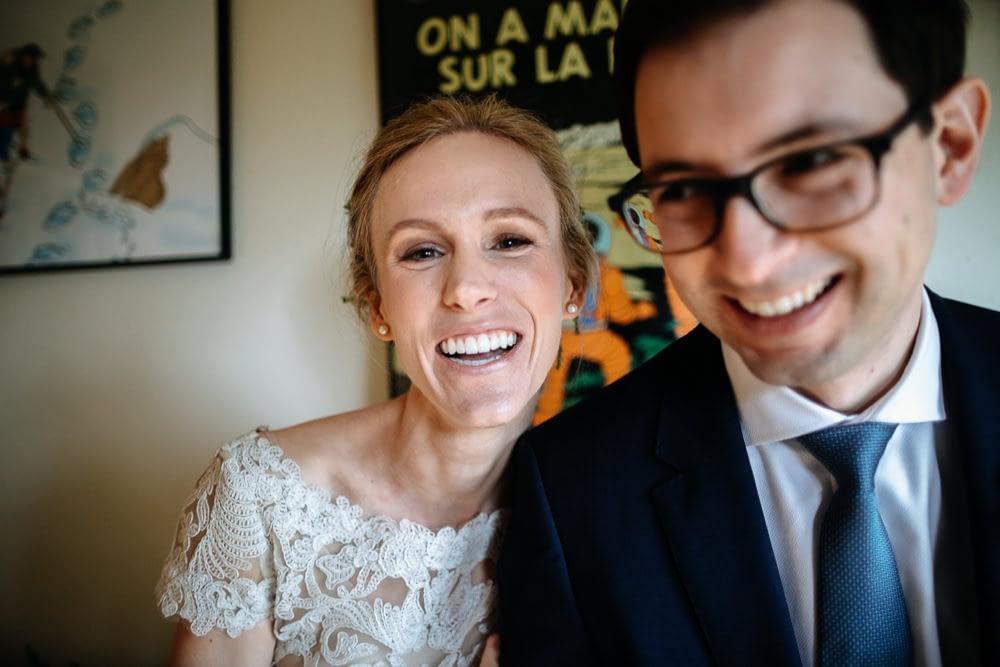 bride laugs