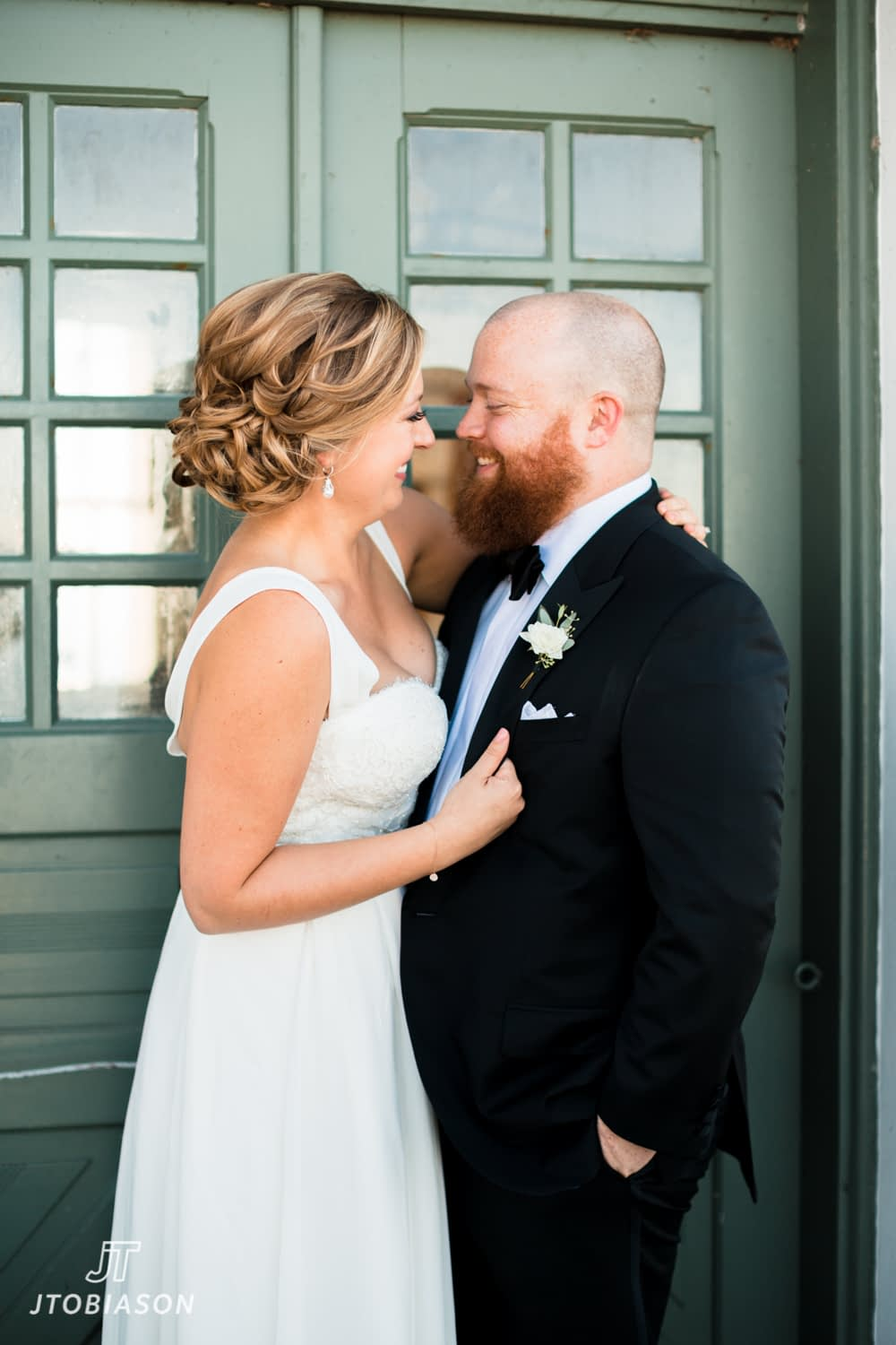 Bride and groom at Lighthouse Discovery Park Wedding