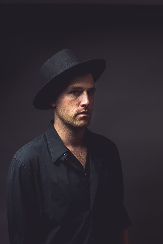 man wears a hat portrait