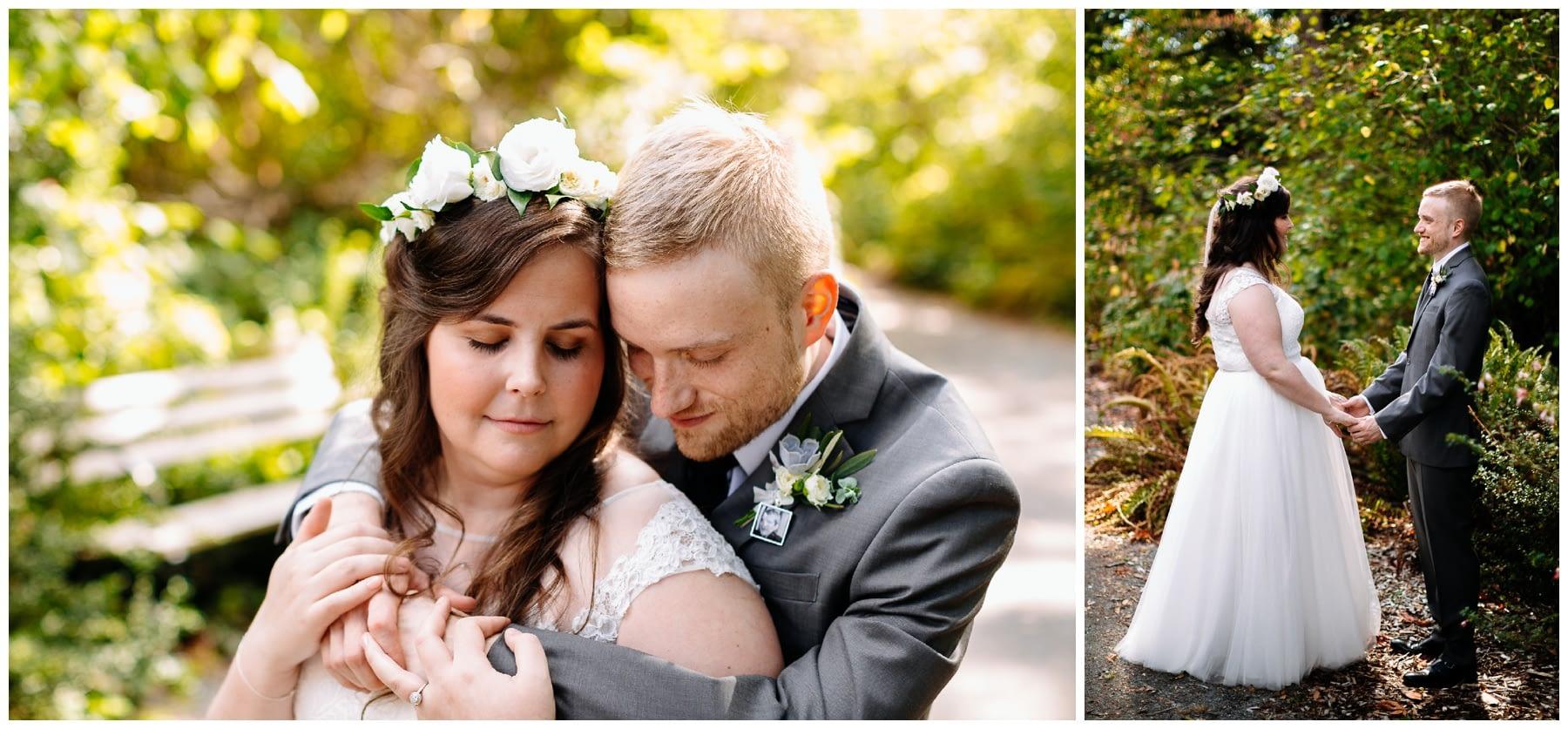bride and groom washington park arboretum