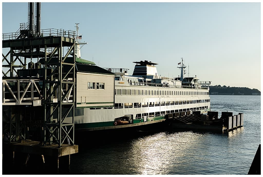 Washington State Ferries engagement photos