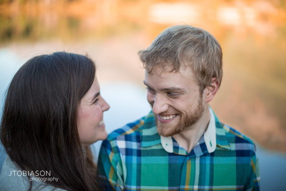 Couple smiles