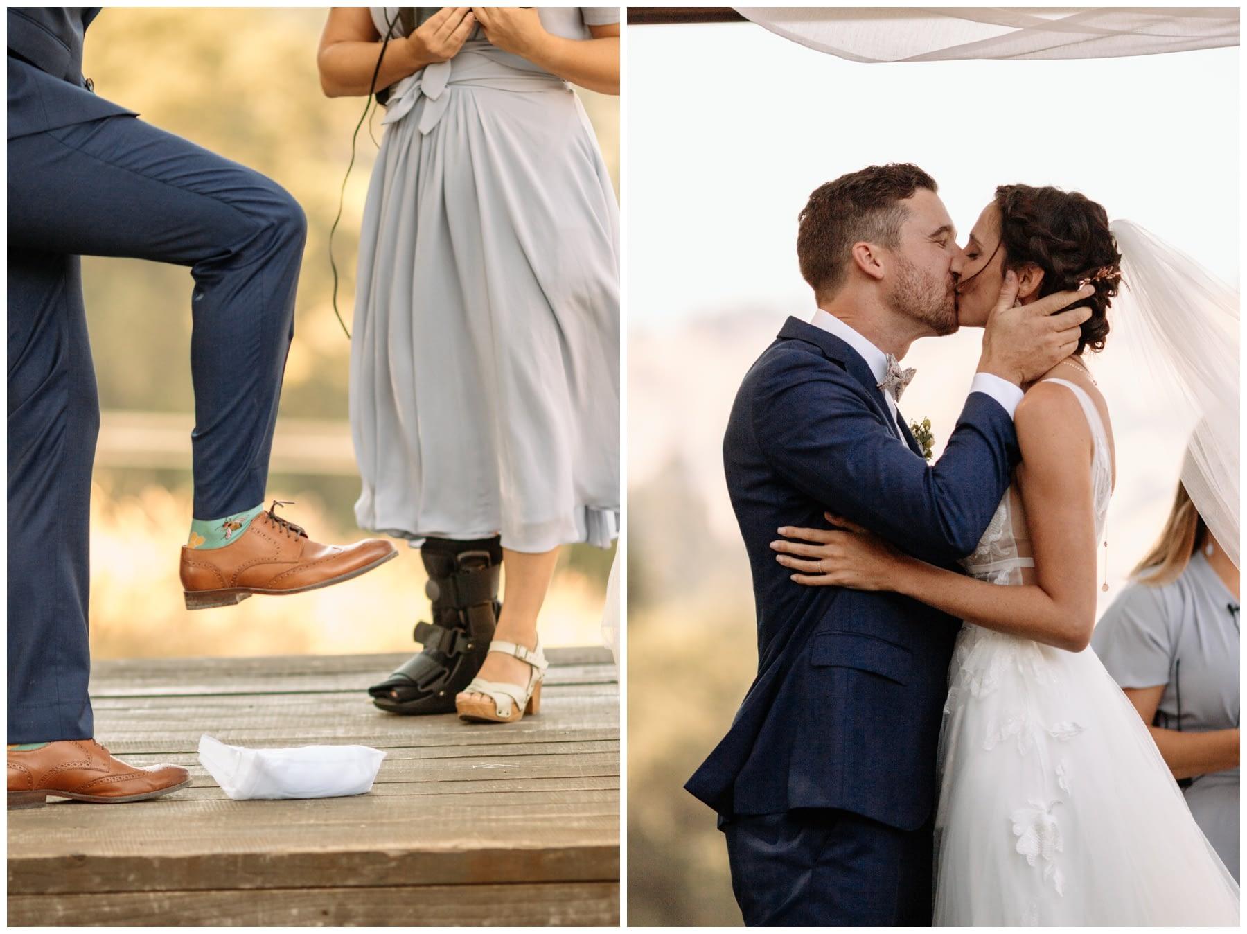 first kiss Highland Estate Wedding