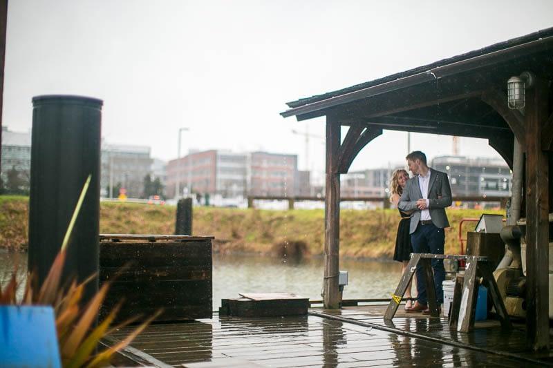South Lake Union engagement photo