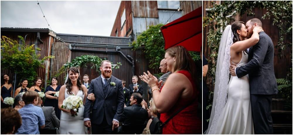 first kiss Georgetown ballroom wedding