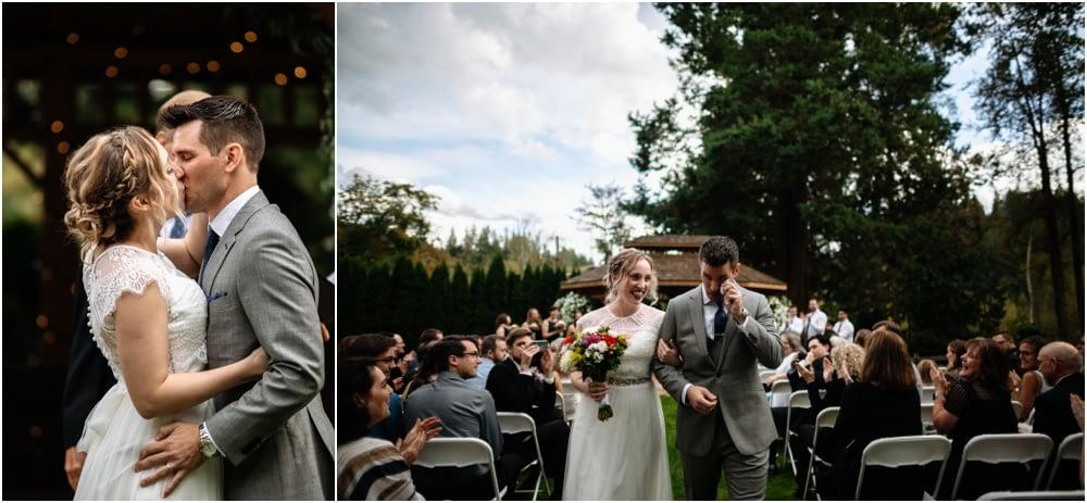 first kiss Preston Community Center wedding