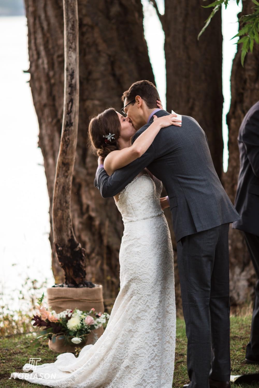 first kiss deception pass state park wedding