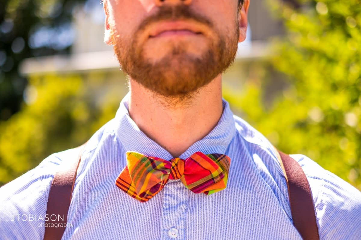 Joe wears bow ties photo