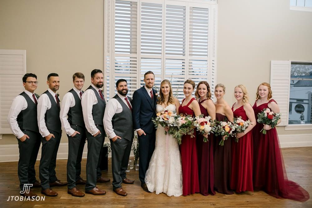 wedding party great hall at green lake wedding photo