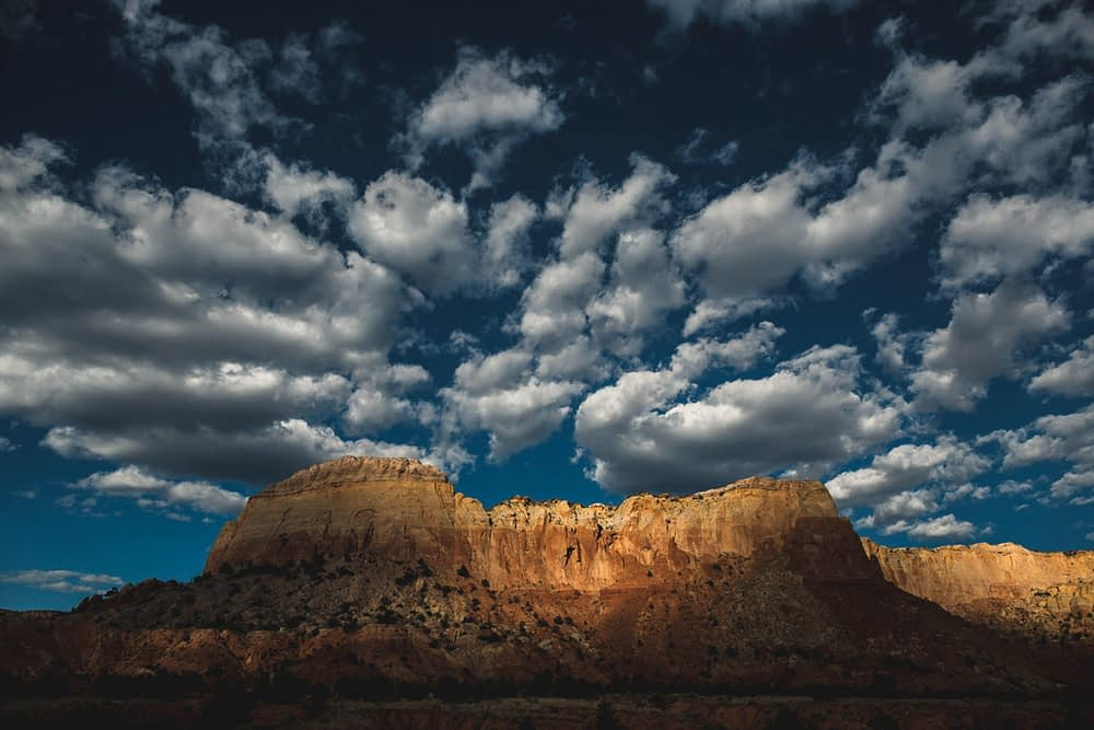 clouds over southwest mesa
