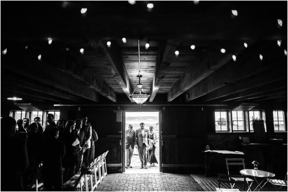 groom enters Crockett Farm Wedding
