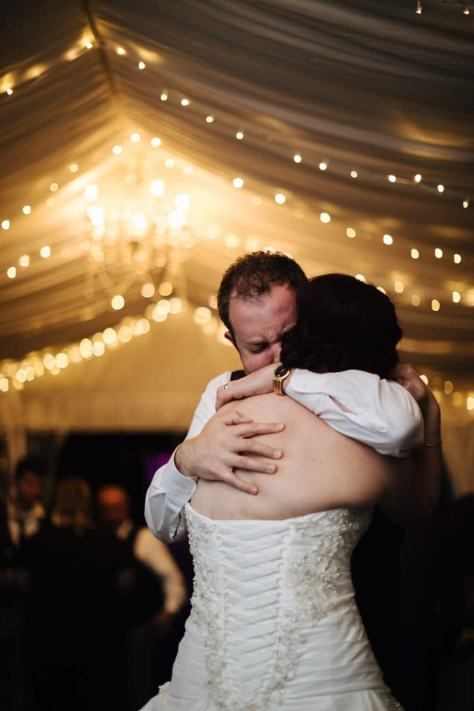 groom cries during first dance Salish Lodge wedding venue