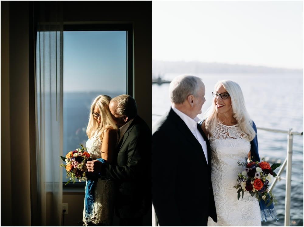 couple smiles Hyatt Regency Lake Washington